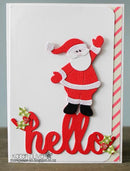 Frantic Stamper Precision Die - Reaching Santa