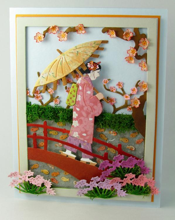 Frantic Stamper Precision Die - Geisha Crossing Bridge Panel
