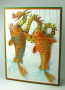 Frantic Stamper Precision Die - Koi and background