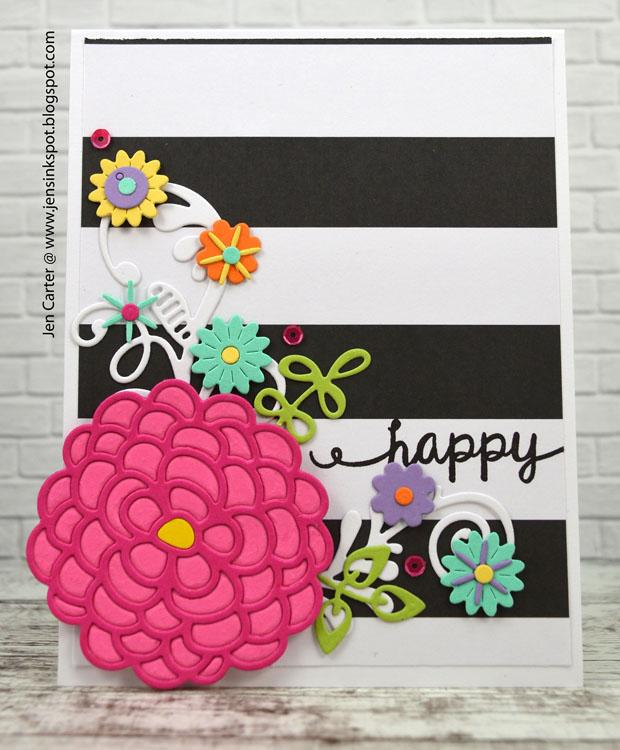 Frantic Stamper Precision Die - Lacey Blooms Two