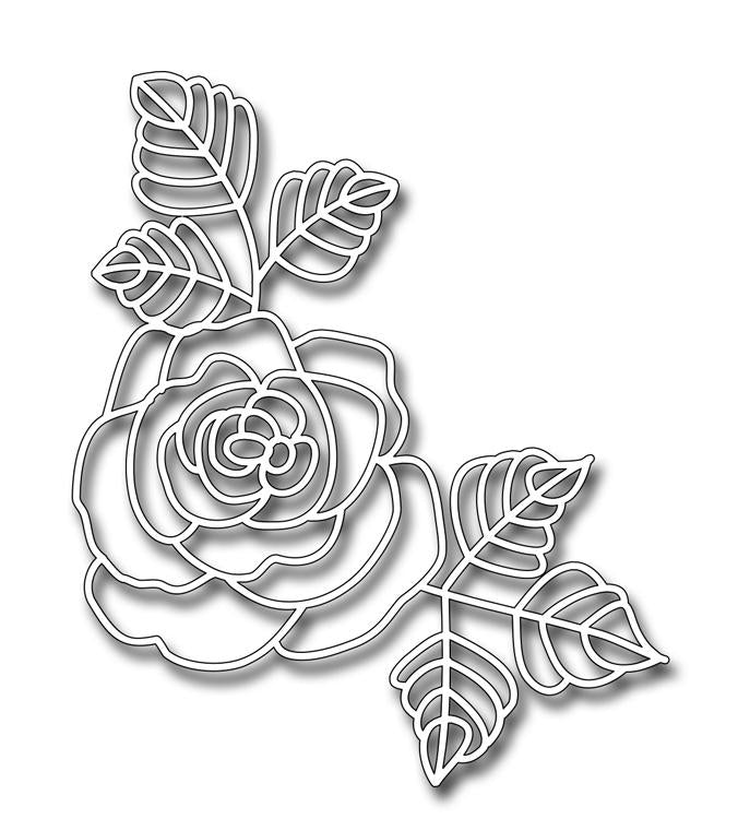Frantic Stamper Precision Die - Jumbo Beautiful Rose