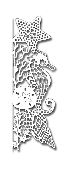 Frantic Stamper Precision Die - Seahorse Edger Facing Right