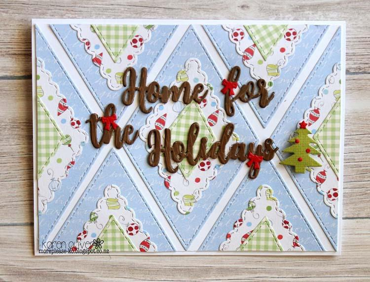 Frantic Stamper Precision Die - Home For The Holidays