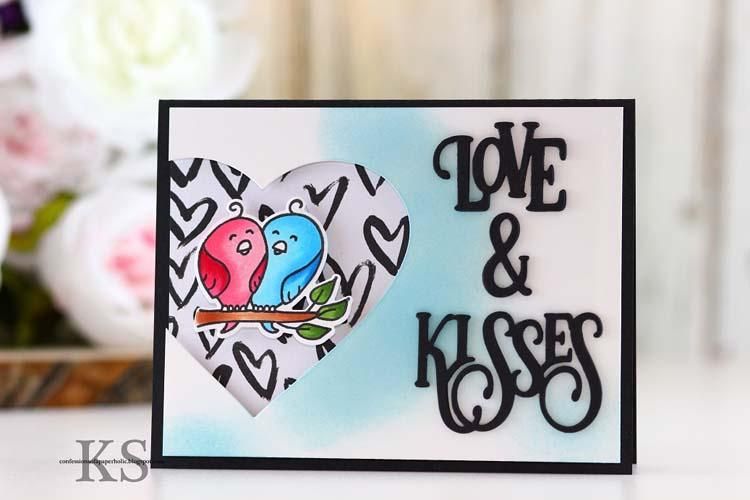 Frantic Stamper Precision Die - Love And Kisses
