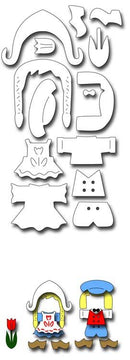 Frantic Stamper Precision Die - Dutch Doll Clothes