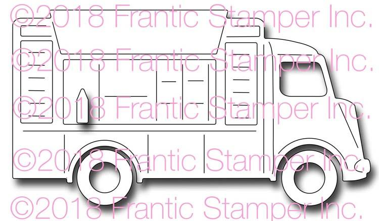 Frantic Stamper Precision Die - Food Truck