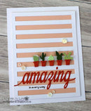 Frantic Stamper Precision Die - Striped Card Panel