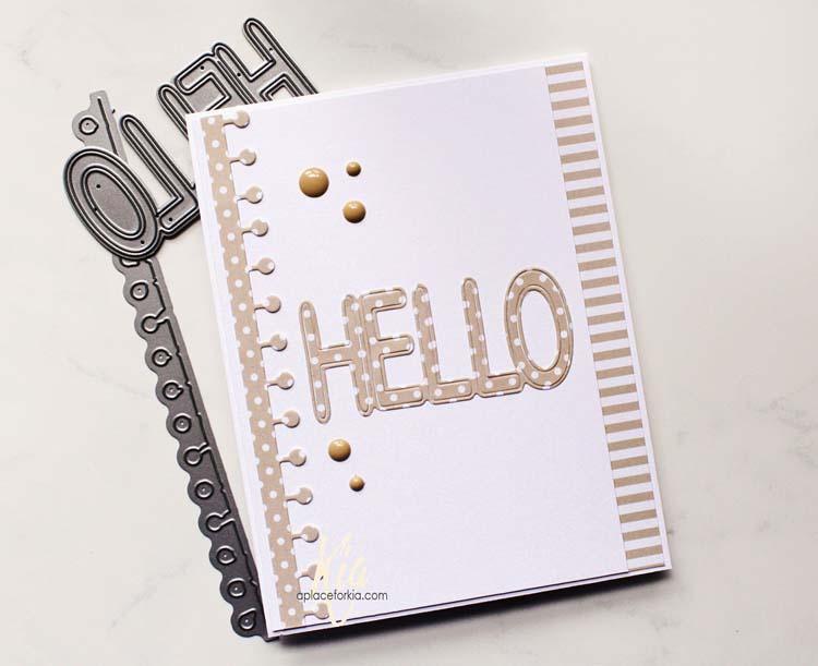 Frantic Stamper Precision Die - Hollow Hello