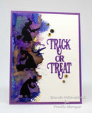 Frantic Stamper Precision Die - Four Tiny Witches