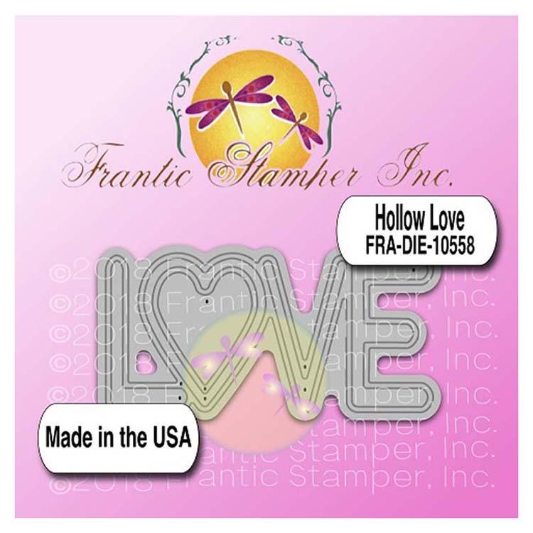 Frantic Stamper Precision Die - Hollow Love