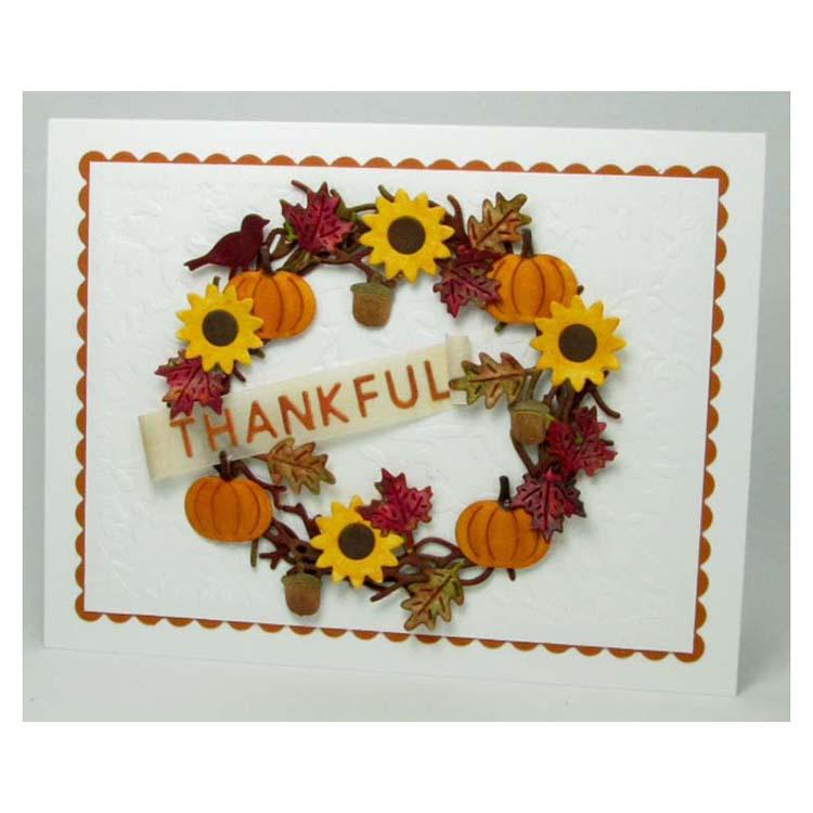 Frantic Stamper Precision Die - Fall Icon Wreath