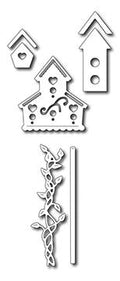 Frantic Stamper Precision Die - Garden Birdhouses (set of 7 dies)