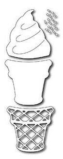 Frantic Stamper Precision Die - Ice Cream Cone (4)