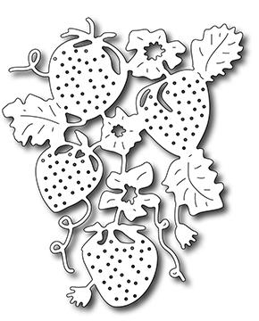 Frantic Stamper Precision Die - Strawberries