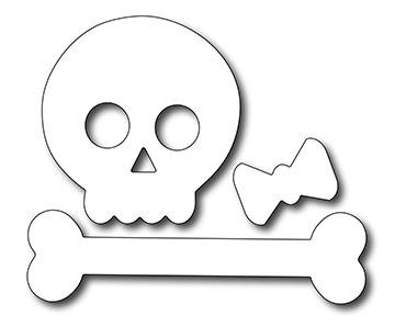 Frantic Stamper Precision Die - Cute Skull and Crossbone