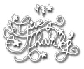Frantic Stamper Precision Die - Ornate Give Thanks