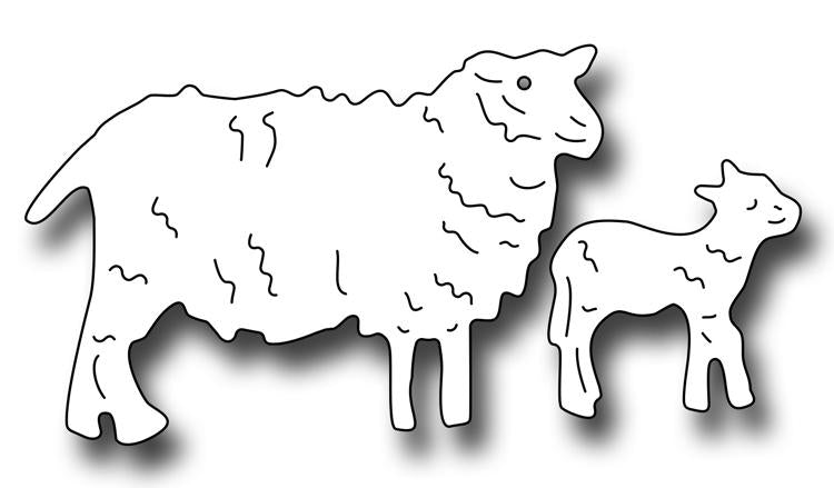 Frantic Stamper Precision Die - Ewe and Lamb