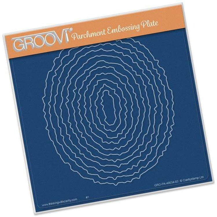 Groovi Template - Oval Deckle Square Plate