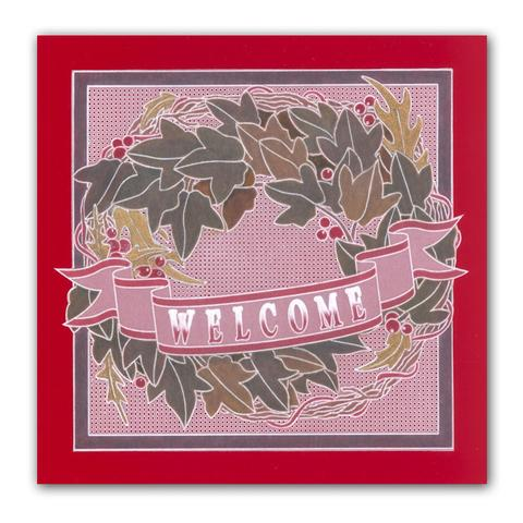 Groovi Template - Ivy Wreath A5 Square Plate