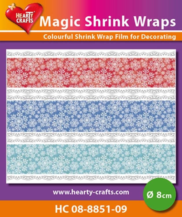 Hearty Crafts Magic Shrink Wraps. Snow Crystals  (8cm)