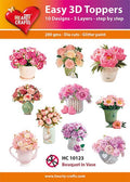Hearty Crafts Easy 3D Toppers Flower Bouquet in a Vase