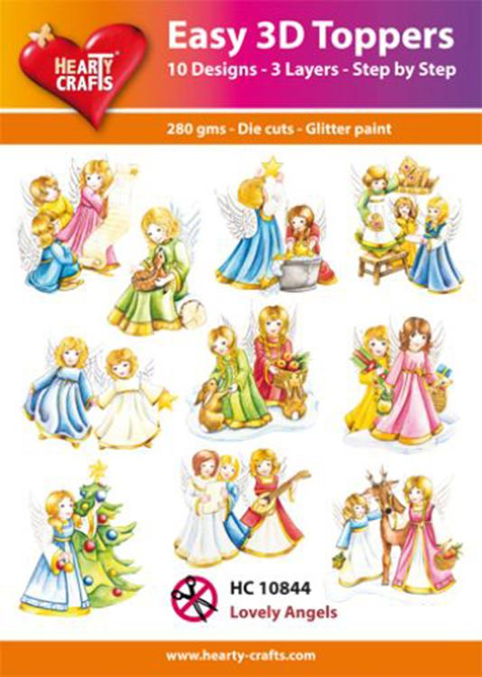 Hearty Crafts Easy 3D Toppers - Lovely Angels