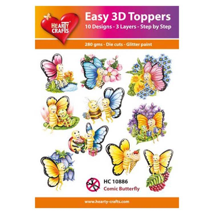 Hearty Crafts Easy 3D Toppers Comic Butterfly