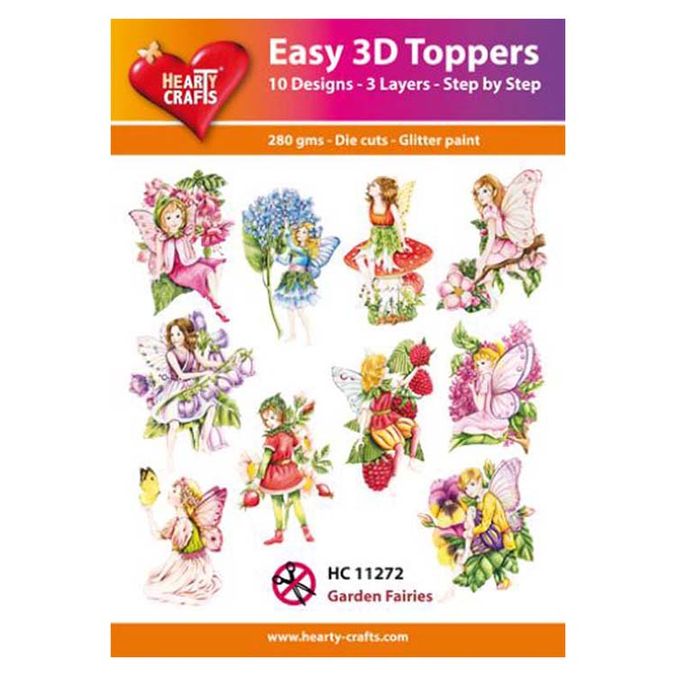 Hearty Crafts Easy 3D Toppers Garden Fairies