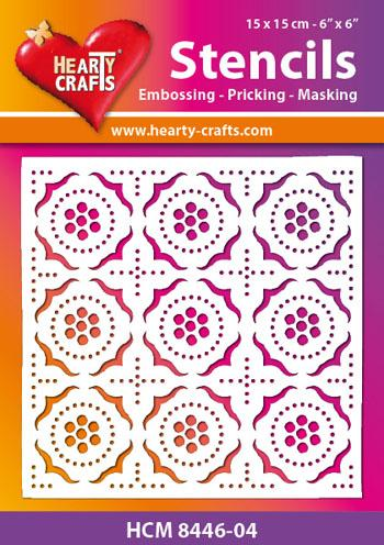 Hearty Craft Moroccan Tile Stencil 5 x 5