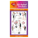 Hearty Crafts Hearty Relief Stickers - Wedding A4