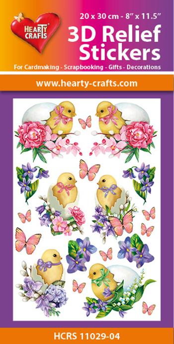 Hearty Crafts 3D Relief Stickers A4 - Easter