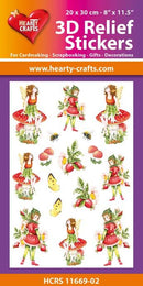 3D Relief Stickers A4 - Garden Fairies 2