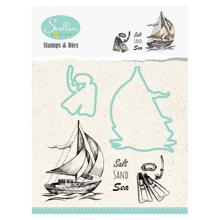 Holiday Die & Stamp Set - Boat