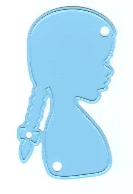 Marianne Design: Creatables Dies - Silhouette Girl With Braids