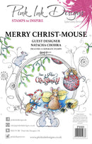 Merry Christ Mouse A5 Clear Stamp Set