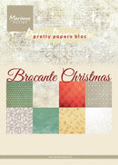 A5 Pretty Paper Bloc Brocante Christmas