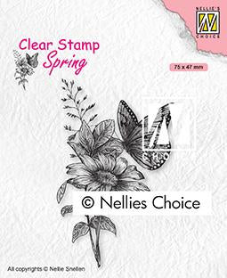 Clear Stamp Spring Butterfly