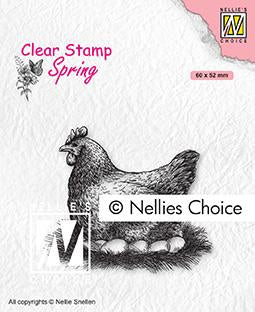 Clear Stamp Spring Mother Hen