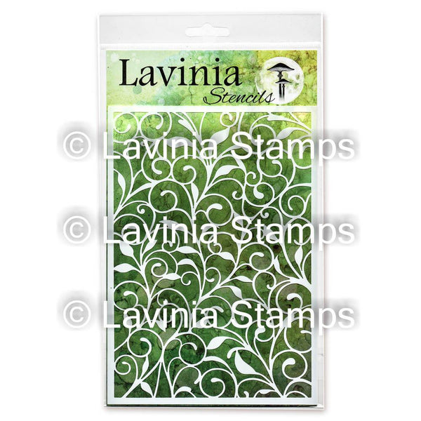 Lavinia Stencil - Leaf Trails