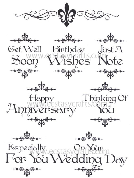 Baroque Sentiments 2 - A5 Clear Stamp