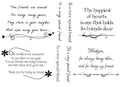 Sentimentally Yours  Clear Stamp - Friendship Verses