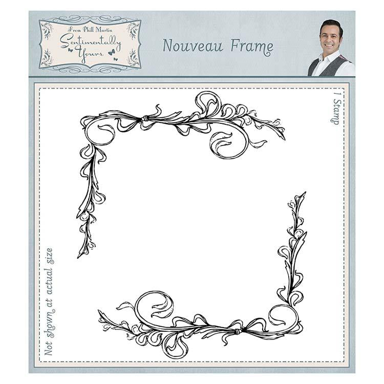 Sentimentally Yours Nouveau Frame 6 x 6 Rubber Stamp