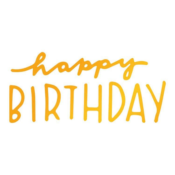 Ultimate Crafts Hotfoil Stamp - Happy Birthday