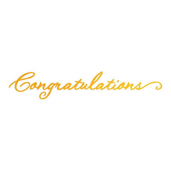 Ultimate Crafts Hotfoil Stamp - Congratulations