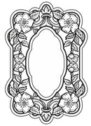 Sue Wilson Cling Stamps - Baroque Blossoms