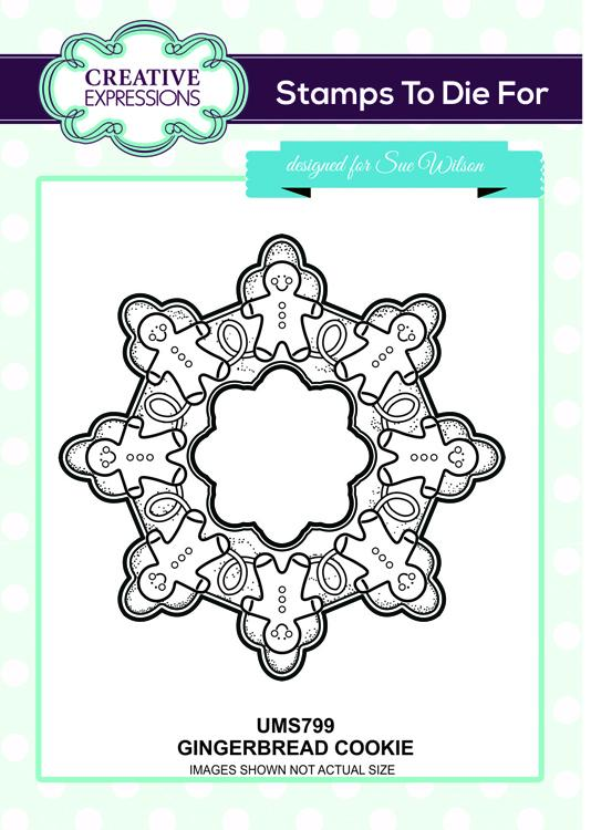 Creative Expressions - Gingerbread Cookie Pre-cut Stamp