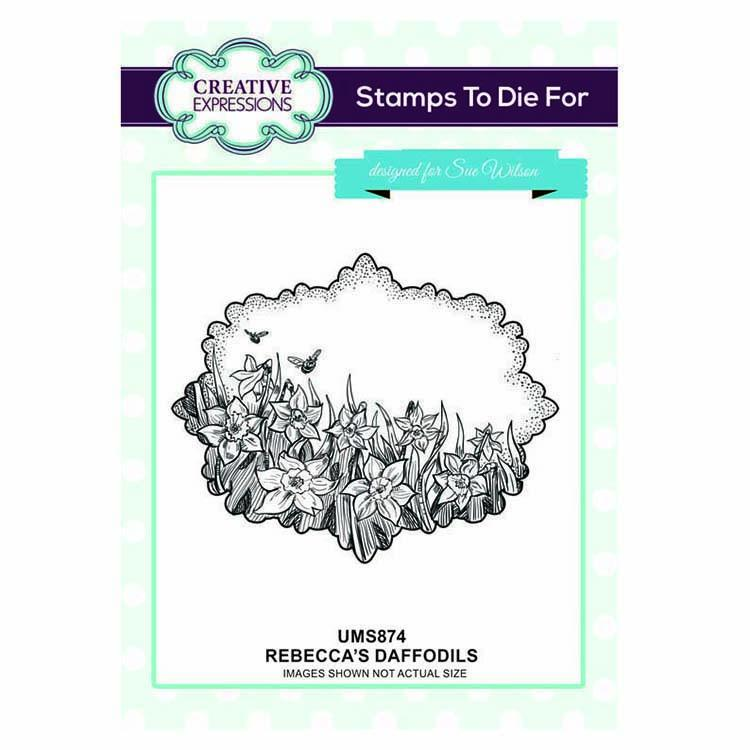 Creative Expressions Stamps To Die For Rebecca's Daffodils Pre Cut Stamp