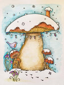 Creative Expressions Winter Toadstool A6 Pre Cut Rubber Stamp