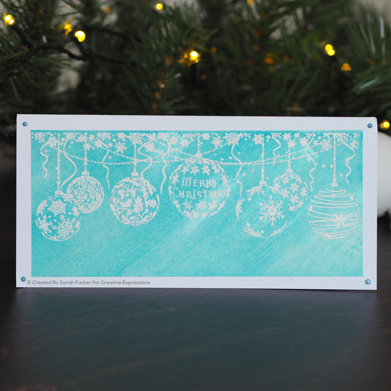 Designer Boutique Collection Bauble Garland DL Pre Cut Rubber Stamp