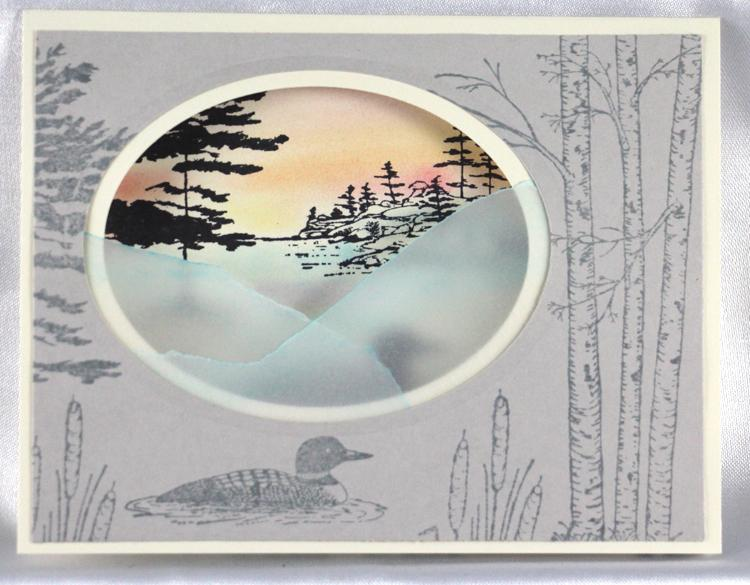 Frog's Whiskers Stamps - Loon